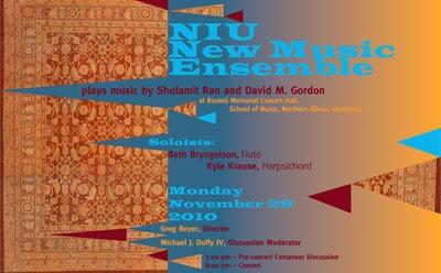 NIU New Music Ensemble poster