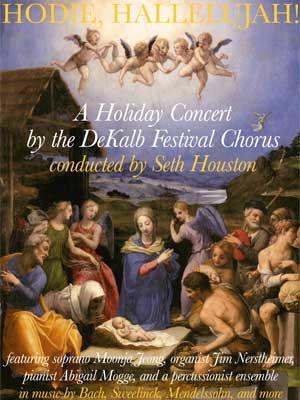 "DeKalb Festival Chorus ""Hodie, Hallelujah!"" concert poster"