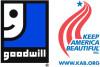 Logos of Goodwill and Keep America Beautiful