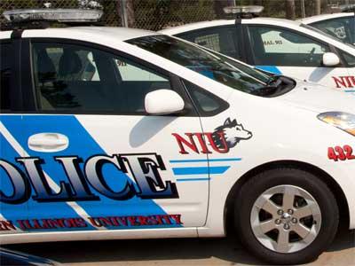 NIU police cars