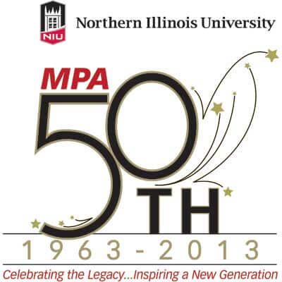 MPA 50th anniversary logo: Celebrating the Legacy ... Inspiring a New Generation