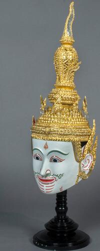 A Khon mask presented as gift to NIU from Her Royal Highness Princess Maha Chakri Sirindhorn of Thailand.