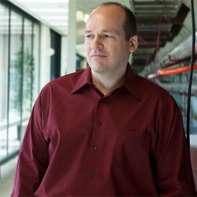 NIU physics professor Stephen Martin at Fermilab