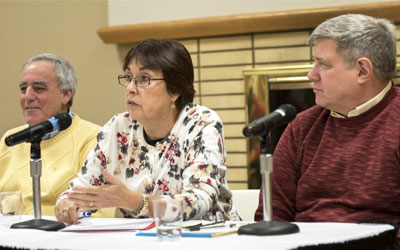 From left: Robert Weinberg, Gloria Balague and Daniel Gould