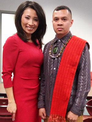 ABC7 Chicago anchor Judy Hsu and Tumpag