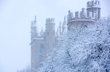 Altgeld Hall in snow