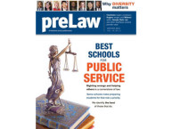 Cover of preLaw magainze