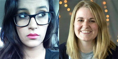April 21 guest speakers: Aaminah Khan and Katie Gordon
