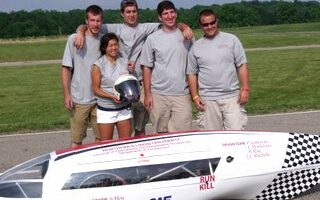 The NIU Supermileage Team recently took third place at the SAE International Supermileage event. Their vehicle got 1,265 miles per gallon of gasoline.