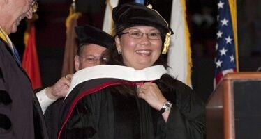 Tammy Duckworth, 2010 recipient of an honorary doctoral degree from NIU
