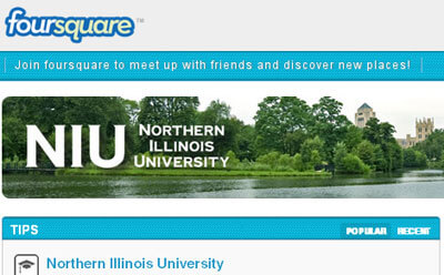 NIU-branded presence on Foursquare