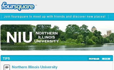 NIU-branded presence on Foursquare