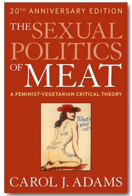"""Book cover of """"The Sexual Politics of Meat"""" by Carol Adams"""