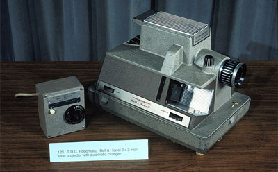 Photo of Bell & Howell Robomatic slide projector