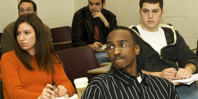 Photo of NIU students in a classroom