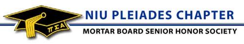 Logo of NIU Pleiades Chapter of Mortar Board Senior Honor Society