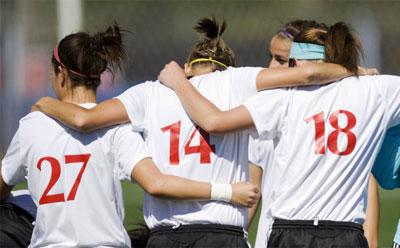 Huskie women's soccer team