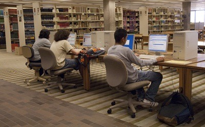 Photo of people working at computers
