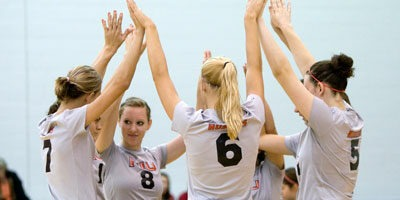 NIU volleyball team