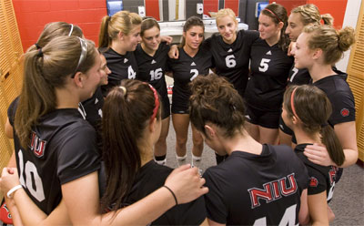 NIU Huskies volleyball team