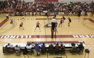 NIU Huskies volleyball packs Victor E. Court