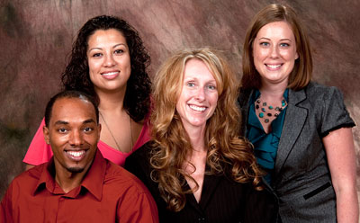 From left: Jason Goode, Missy Lugo, Amy Horn and Juliane Such