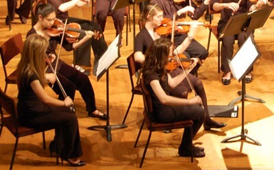 CSA Sinfonia members play during a recent concert.