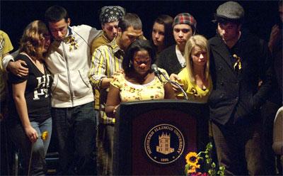 Friends of Toni Keller speak in her honor