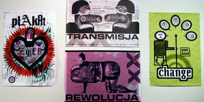 Posters from Jack Olson Gallery exhibition