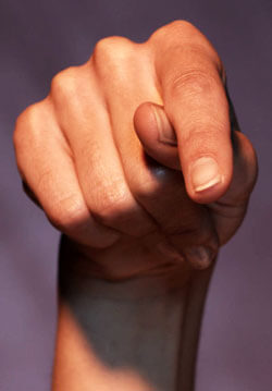 Photo of hand practicing American Sign Language