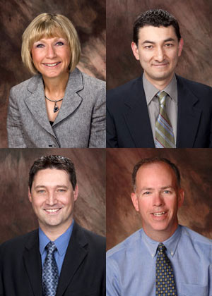2010 award winners (clockwise from top left) were Bobbie Cesarek, Jes Cisneros, Michael Stang and Patrick Gorman