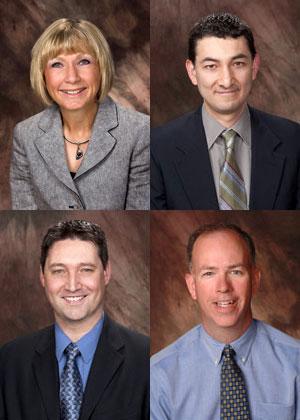 2010 award winners (clockwise from top left) were Bobbie Cesarek, Jes Cisneros, Michael Stang and Patrick Gorman