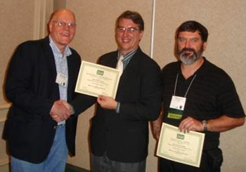 Jeff Karl Kowalski, IAM President David Becker and Peter Van Ael
