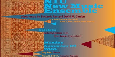 NIU New Music Ensemble poster