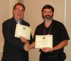 IAM President David Becker (left) and Peter Van Ael