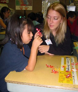 A 2005 photo from NIU's Project ROAR at Littlejohn Elementary School