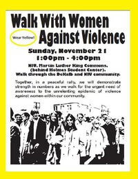 Walk With Women Against Violence poster