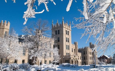 Altgeld Hall in winter
