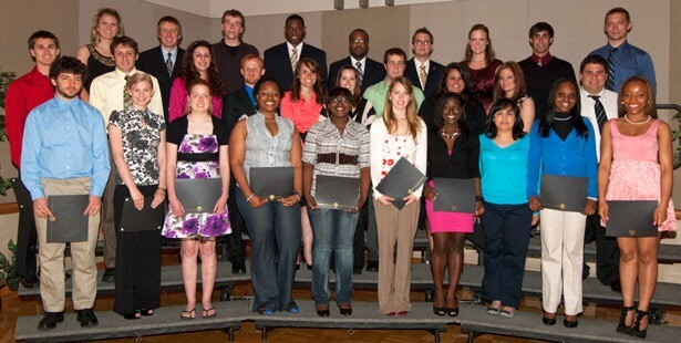 Group photo of leadership award winners