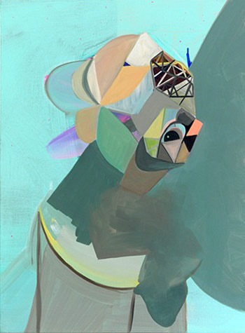 "Michelle Wasson, oil painting, ""Ami de Buckethead"""