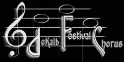 Logo of the DeKalb Festival Chorus