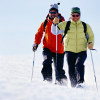 Photo of couple cross-country skiing