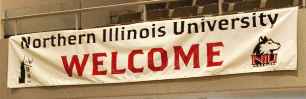 """Photo of """"Welcome"""" sign at open house"""