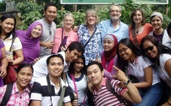A group of NIU faculty members visited the Philippines in January to conduct workshops and provide feedback to young activists who had previously attended institutes at NIU.