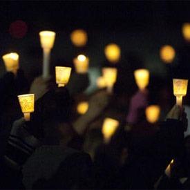 Candelight vigil held Feb. 14, 2010