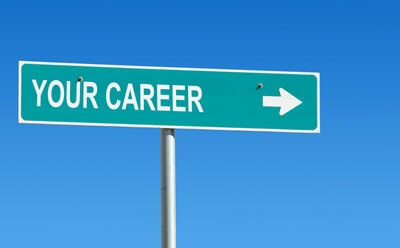 """""""Your Career"""" road sign"""