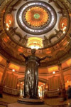 Interior of the Illinois State Capitol Building in Springfield