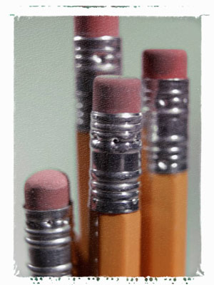 Photograph of pencils