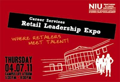 NIU Retail Leadership Expo poster