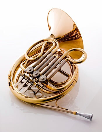 Photo of a French horn
